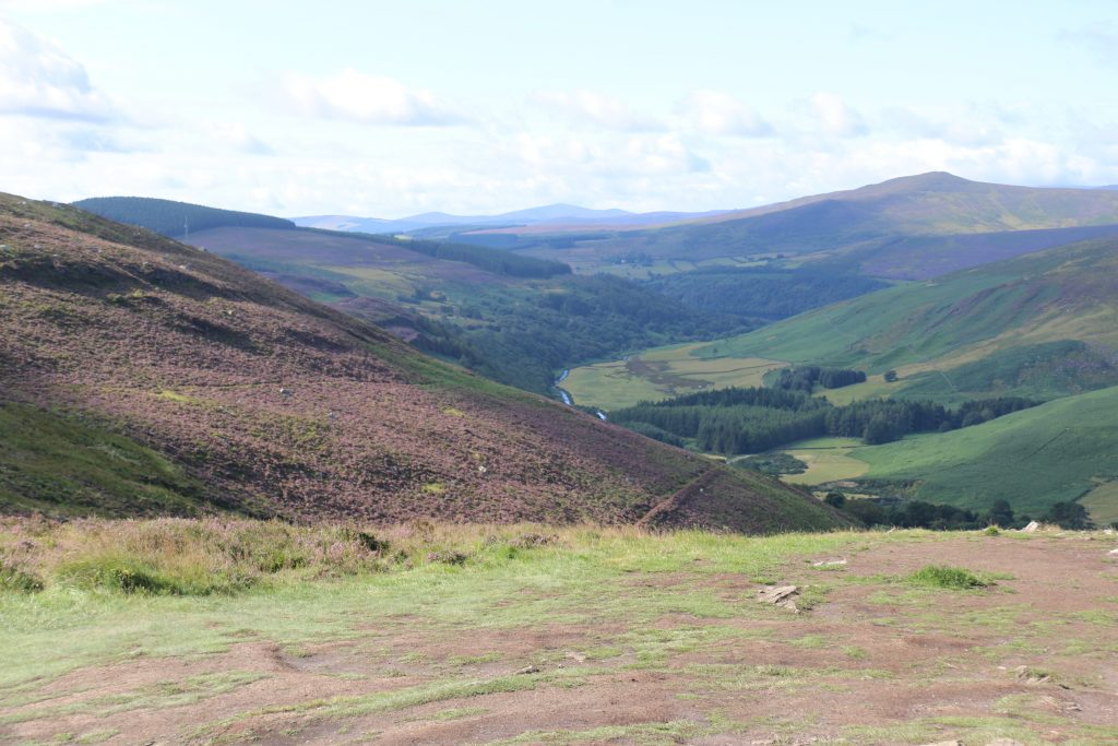 hills of Ireland, near Glendalough